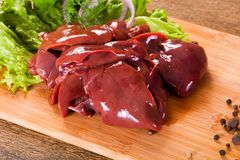 Raw chicken liver. For cooking Royalty Free Stock Images