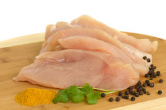 Raw chicken meat Royalty Free Stock Images