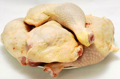 Raw chicken meat. Isolated on white royalty free stock photos