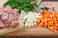 Raw chicken meat Stock Photography