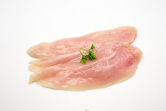 Raw chicken meat isolated on white background. Stock Photos