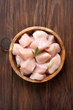 Raw chicken meat, top view Royalty Free Stock Image
