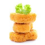 Raw chicken nuggets Stock Image