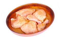 Raw chicken pieces Royalty Free Stock Image