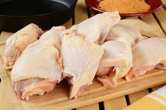 Raw chicken pieces Royalty Free Stock Photos