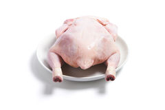 Raw Chicken on Plate Royalty Free Stock Image