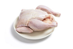 Raw Chicken on Plate Stock Photos