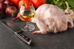 Raw chicken ready for cooking Stock Image