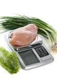 Raw Chicken on Scale Royalty Free Stock Image