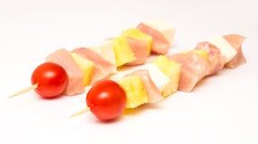 Raw Chicken Skewers Stock Photo