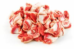 Raw chicken stomach Stock Photo