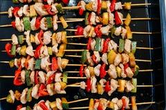 Raw chicken teriyaki Stock Images
