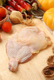 Raw chicken thigh Royalty Free Stock Photography