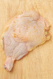 Raw chicken thigh Stock Images