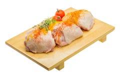 Raw chicken thigh Stock Photo
