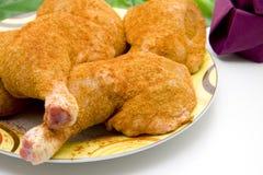 Raw chicken thighs Stock Photos