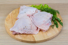 Raw chicken thighs Royalty Free Stock Photo