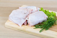 Raw chicken thighs Royalty Free Stock Image