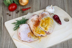 Raw chicken thights Stock Photography