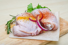 Raw chicken thights Royalty Free Stock Images