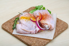 Raw chicken thights Royalty Free Stock Photography