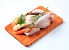 Raw chicken and vegetables Stock Photo
