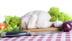 Raw chicken. On white background Stock Photography