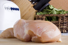 Raw chicken white meat Royalty Free Stock Photography