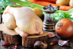Raw chicken whole Royalty Free Stock Images