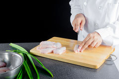 Raw chicken wing Stock Image