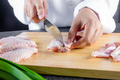 Raw chicken wing Stock Photography