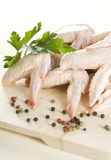 Raw chicken wings. Grill food Royalty Free Stock Image