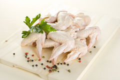 Raw chicken wings Stock Image