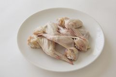 Raw chicken wings only Stock Image