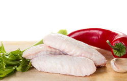 Raw chicken wings Royalty Free Stock Image