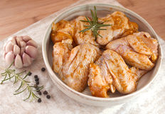 Raw chicken wings Stock Photo