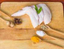 Raw chicken wings Royalty Free Stock Photo