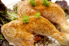 Raw chickens thighs Royalty Free Stock Photos