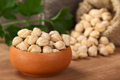 Raw Chickpeas Stock Images