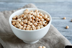 Raw chickpeas in a bowl Royalty Free Stock Photo