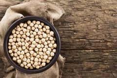 Raw Chickpeas or Garbanzo Beans Royalty Free Stock Images