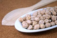 Raw chickpeas in a small bowl Stock Images