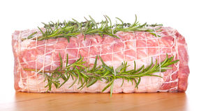 Raw chine of pork Stock Photos