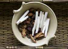 Raw Chinese Herbs Stock Image