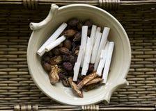 Raw Chinese Herbs Stock Image