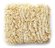 Raw chinese noodles. On white background Royalty Free Stock Image