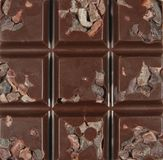 Raw Chocolate with Cacao Nibs Royalty Free Stock Image