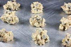 Raw chocolate chip cookie dough. Ready to be bake Royalty Free Stock Photography
