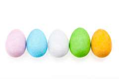 Raw Of Chocolate Easter Eggs Royalty Free Stock Photo