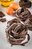 Raw chocolate pasta Stock Photography
